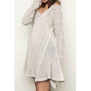 Hayden LA Waffle Knit Sweater Tunic